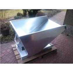 Kontener samowyładowczy 2,5m3, grubość blachy 3mm, malowany, ocynk