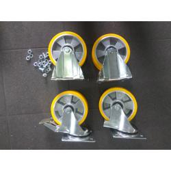 Kontener samowyładowczy 1,0m3, grubość blachy 3mm, malowany, na kołach