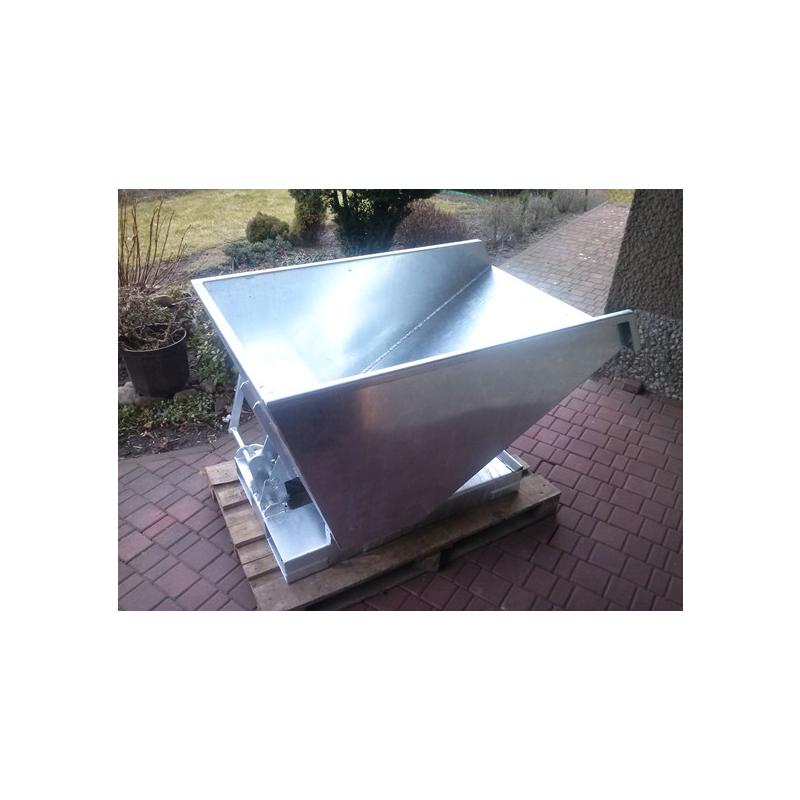Kontener samowyładowczy 0,5m3, grubość blachy 3mm, ocynkowany